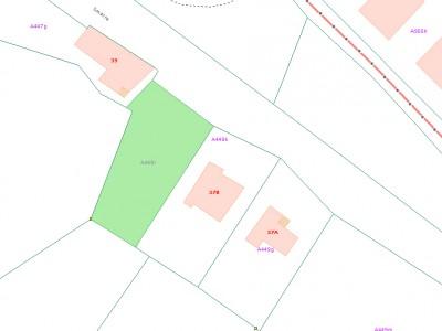 plan bouwgrond met aanduiding